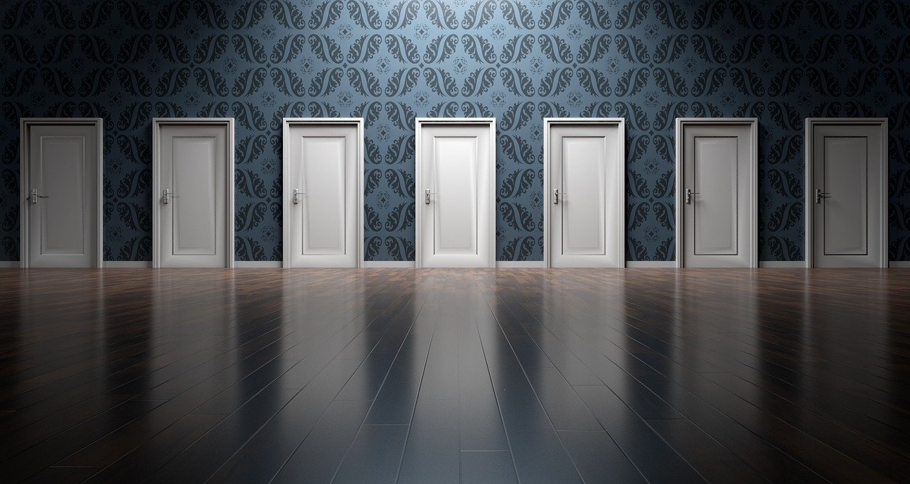 Multiple Doors representing choices